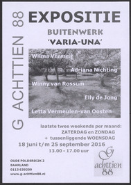Expositie Buitenwerk 'Varia-Una'; Galerie Achttien 88.