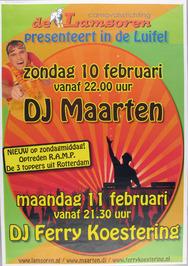 carnavalsvereniging de Lamsoren presenteert DJ Maarten in de Luifel