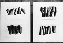 Expositie zwartwit tekeningen rond het thema Stenen van kunstenaar Jon van de Ri…