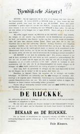 verkiezingsaffiche voor De Rijckke en Bekaar