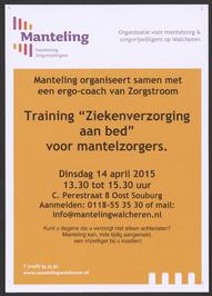 """Training """"Ziekenverzorging aan bed"""" voor mantelzorgers, georganiseerd door de Ma…"""