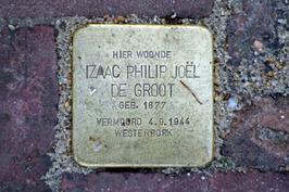 Struikelsteen  voor Izaac Philip Joël de Groot (1877-1944).