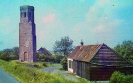 boerderijtje bij Plompe Toren,  de Plompe Toren is in 1938 geheel gerestaureerd,…