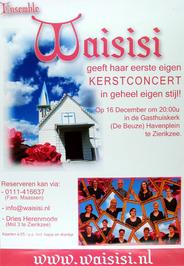 kerstconcert door ensemble Waisisi in de Gasthuiskerk