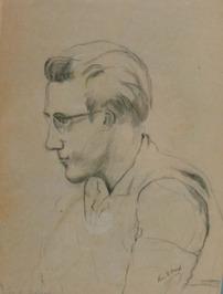 portret van Kees v.d. Burgh