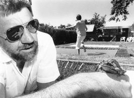 J. Midavaine van het kikkervriendelijk trampolinecentrum.