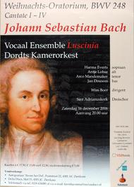 uitvoering van het Weihnachts-Oratorium door vocaal ensemble Luscinia en het Dor…