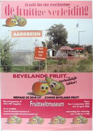 tentoonstelling getiteld De fruitige verleiding, in het fruitteeltmuseum