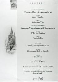 concert door o.a. christelijk gemengd koor Zeeuws-Vlaanderen in de N.H. kerk