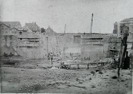 aanleg van de marine sluis