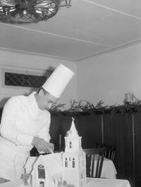 bakker maakt kerk van suiker