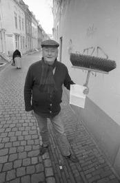 de heer Borstlap met brief van de gemeente