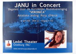 Janu in concert m.m.v. Kon. Muziekvereniging Veronica in het Ledel theater