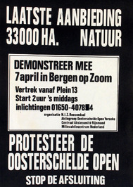 oproep tot protesteren voor de Oosterschelde open