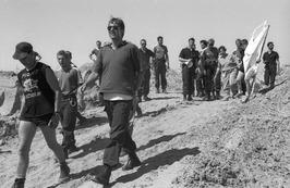 demonstratie tegen kernafval opslag door Covra