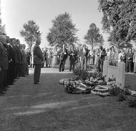 herdenking bij bevrijdingsfeest