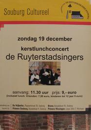 kerstlunchconcert m.m.v de Ruyterstadsingers georganiseerd door de vrienden van …