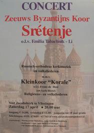 concert van het Zeeuws Byzantijns Koor Srétenje in de St. Jacobskerk