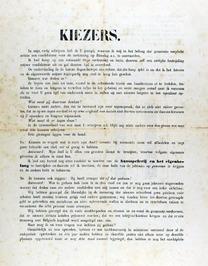 verkiezingsaffiche ondertekend door Clement Carpreau