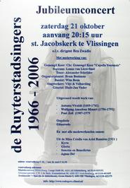 jubileumconcert van de Ruyterstadsingers in de Sint Jacobskerk