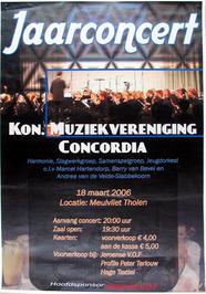 jaarconcert door het Koninklijke muziekvereniging Concordia