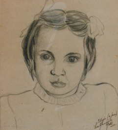 portret van Elsje Labruyère - 4 jaar oud