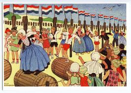 Illustratie van spelende kinderen uit het boek: Van vier vroolijke klantjes in h…