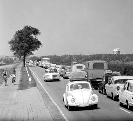verkeersopstopping in de richting van Middelburg