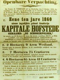 openbare verpachting van o.a. hofstede De Schorerpolder