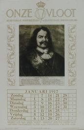 portret op kalender Onze Vloot