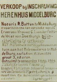 verkoop bij inschrijving van een herenhuis aan het Molenwater 49