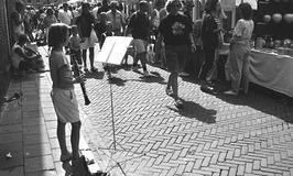 muziek op de toeristenmarkt