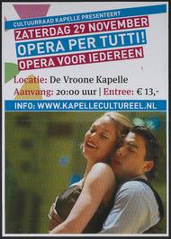 cultuurraad Kapelle presenteert: Opera Per Tutti! in De Vroone