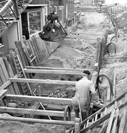 instortingsgevaar voor huizen door breuk oude rioolbuis