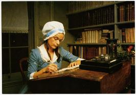 """Betje Wolffmuseum. Betje aan haar schrijftafel, scene uit film """"Rondom Betje Wol…"""