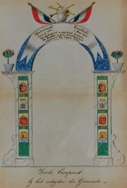 vierde erepoort met wapen van Oostburg  t.g.v. het bezoek van Z.M. Koning Willem…