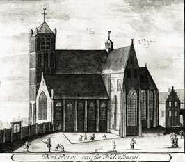 Sint-Pieters- of Noordmonsterkerk. Deze stond aan de noordzijde van het Hofplein…