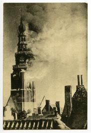 Brand in de toren van de Sint-Jacobskerk op 5 september 1911.