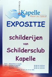 expositie schilderijen van schildersclub Kapelle