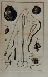 tekening met medische instrumenten