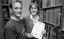 P. Blom en T. Polderman, beiden archivaris