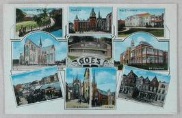 Van links naar rechts, boven: Dammetje, Stadhuis, Alg. ziekenhuis midden: Grote …