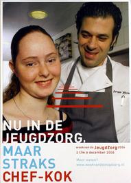 week van de jeugdzorg - op affiche rechts chef-kok Sergio Herman