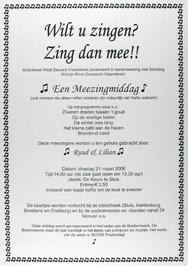 meezingmiddag georganiseerd door bibliotheek West Zeeuws-Vlaanderen i.s.m. Stich…