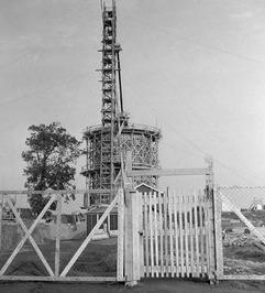 watertoren in aanbouw