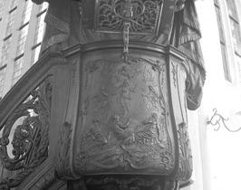 preekstoel in de Sint Baafskerk