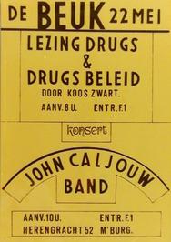 lezing drugs en drugsbeleid en concert van John Caljouw