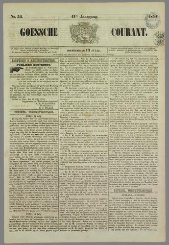 Goessche Courant 1854-07-13