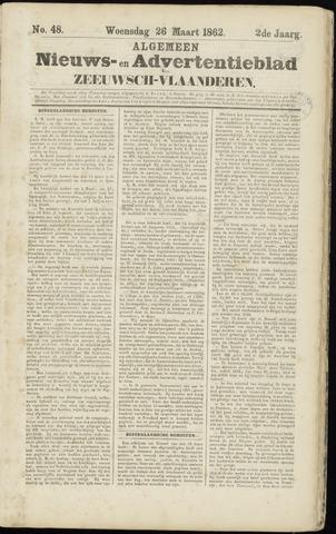 Ter Neuzensche Courant. Algemeen Nieuws- en Advertentieblad voor Zeeuwsch-Vlaanderen / Neuzensche Courant ... (idem) / (Algemeen) nieuws en advertentieblad voor Zeeuwsch-Vlaanderen 1862-03-26