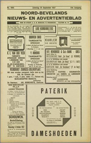 Noord-Bevelands Nieuws- en advertentieblad 1937-09-25